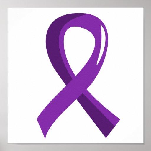 Alzheimer's Disease Purple Ribbon 3 Print