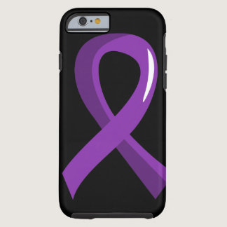 Alzheimer's Disease Purple Ribbon 3 Tough iPhone 6 Case