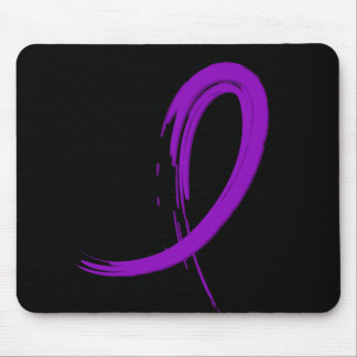 Alzheimer's Disease Purple Ribbon A4 Mouse Pad