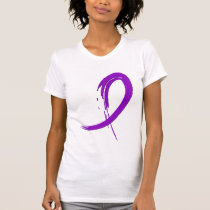 Alzheimer's Disease Purple Ribbon A4 T-Shirt