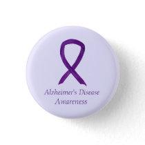 Alzheimer's Disease Purple Ribbon Custom Art Pins