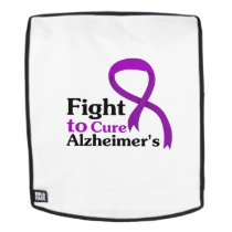 Alzheimers Disease Purple Ribbon Fight Backpack
