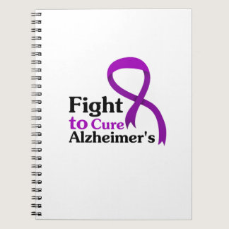 Alzheimers Disease Purple Ribbon Fight Notebook
