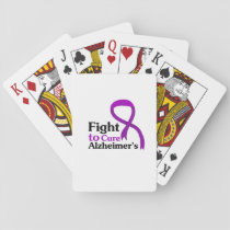Alzheimers Disease Purple Ribbon Fight Playing Cards