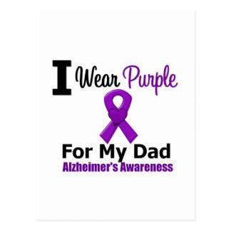 Alzheimer's Disease PURPLE RIBBON FOR MY DAD Postcard