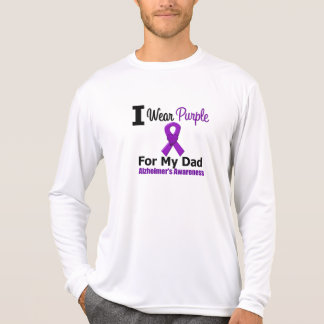 Alzheimer's Disease PURPLE RIBBON FOR MY DAD T-shirt