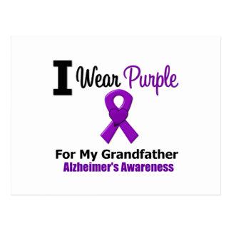 Alzheimer's Disease Purple Ribbon Grandfather Postcard