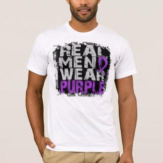 Alzheimer's Disease Real Men Wear Purple T-Shirt