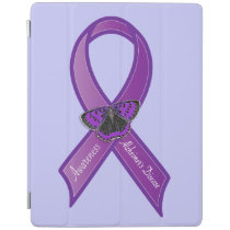 Alzheimer's Disease Ribbon Butterfly of Hope iPad Smart Cover