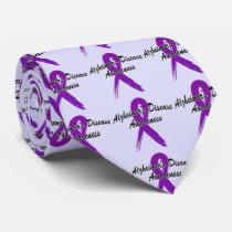 Alzheimer's Disease Ribbon of Hope Neck Tie