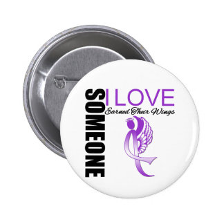 Alzheimers Disease Someone I Love Earned Wings Pinback Button