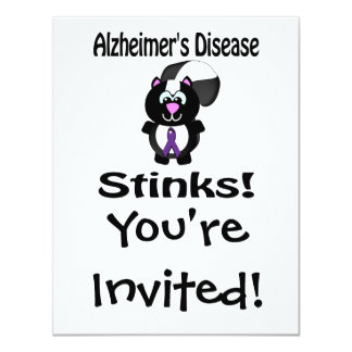 Alzheimers Disease Stinks Skunk Awareness Card