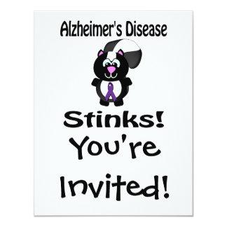 Alzheimers Disease Stinks Skunk Awareness Card