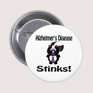 Alzheimers Disease Stinks Skunk Awareness De Pinback Button