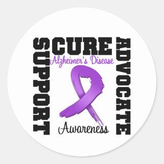 Alzheimer's Disease Support Advocate Cure Classic Round Sticker