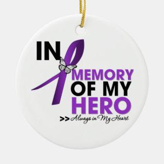 Alzheimers Disease Tribute In Memory of My Hero Ceramic Ornament