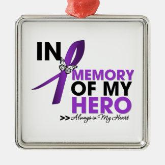 Alzheimers Disease Tribute In Memory of My Hero Metal Ornament