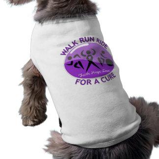 Alzheimer's Disease Walk Run Ride For A Cure Dog T Shirt