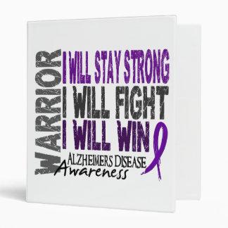 Alzheimer's Disease Warrior 3 Ring Binder