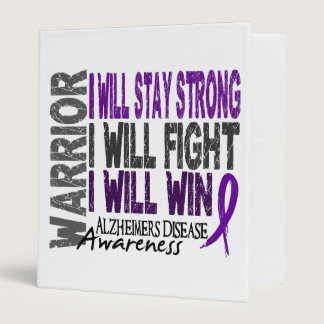 Alzheimer's Disease Warrior 3 Ring Binder