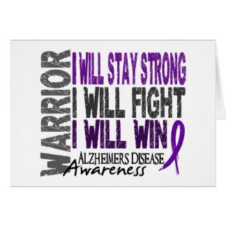 Alzheimer's Disease Warrior Card