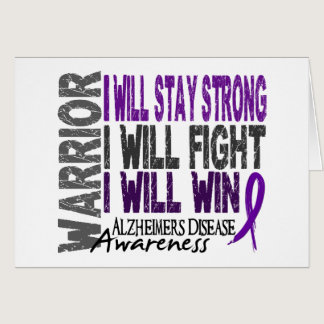 Alzheimer's Disease Warrior Card