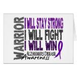 Alzheimer's Disease Warrior Greeting Cards