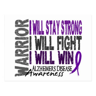 Alzheimer's Disease Warrior Postcard