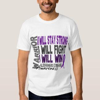 Alzheimer's Disease Warrior T-shirt