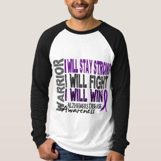 Alzheimer's Disease Warrior Tee Shirt