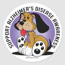 Alzheimers Dog Classic Round Sticker
