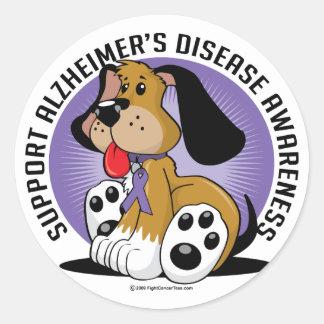 Alzheimers Dog Classic Round Sticker