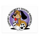 Alzheimers Dog Post Card
