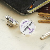 Alzheimers Emergency Contact Lapel Pin