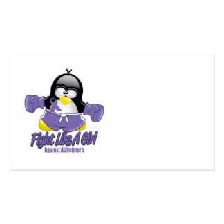 Alzheimers Fighting Penguin Business Card Templates