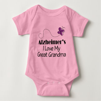 Alzheimers I Love My Great Grandma Baby Bodysuit