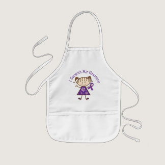 Alzheimer's I Support My Grammy Kids' Apron