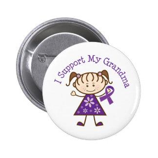 Alzheimer's I Support My Grandma Button