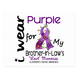 Alzheimers I Wear Purple For My Brother-In-Law 43 Postcard