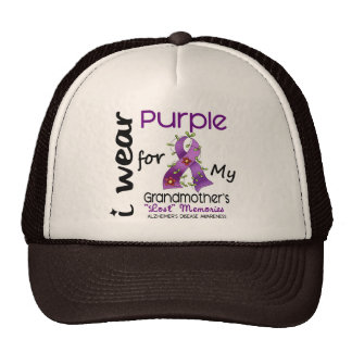 Alzheimers I Wear Purple For My Grandmother Hats