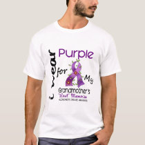 Alzheimers I Wear Purple For My Grandmother T-Shirt