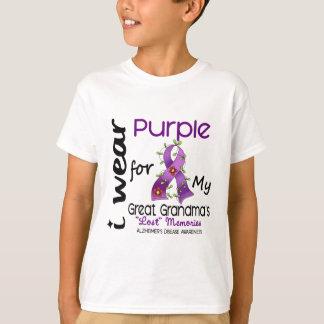 Alzheimers I Wear Purple For My Great Grandma T-Shirt