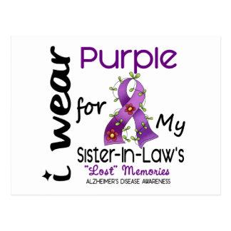 Alzheimers I Wear Purple For My Sister-In-Law Postcard