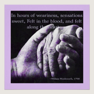 Alzheimers - In Hours Of Weariness Poster