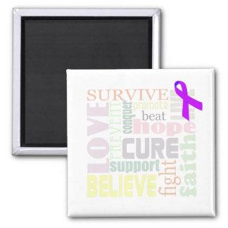 Alzheimer's Inspirational Words 2 Inch Square Magnet