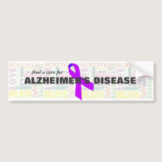 Alzheimer's Inspirational Words Bumper Sticker