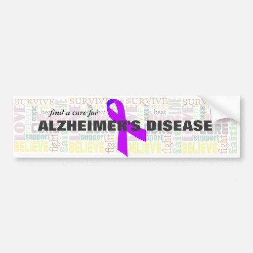 Alzheimer's Inspirational Words Bumper Stickers