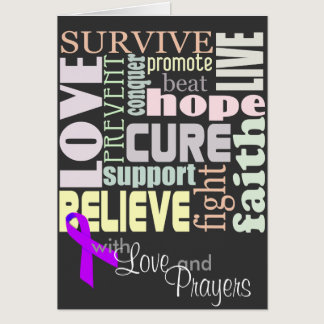 Alzheimer's Inspirational Words Card