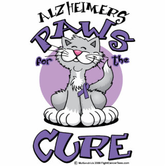 Alzheimers Paws for the Cure Cat Cutout