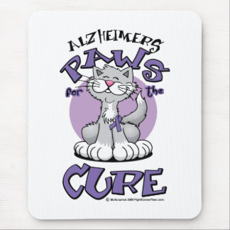 Alzheimers Paws for the Cure Cat Mouse Pad